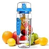 OMORC Bottiglia Acqua Detox 1 Litro con Infusore di Frutta, Borraccia Detox di Tritan, senza BPA, a Prova di Perdite, con...